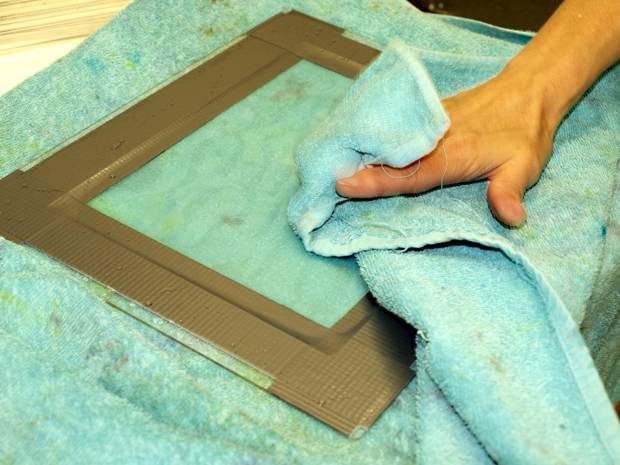 Washing your thermofax screen