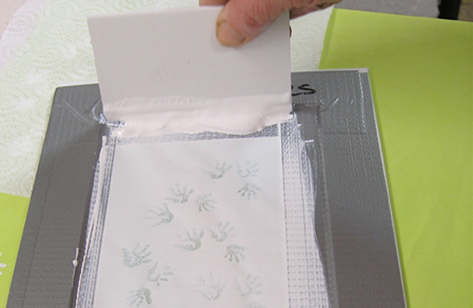Printing with thermofax screens